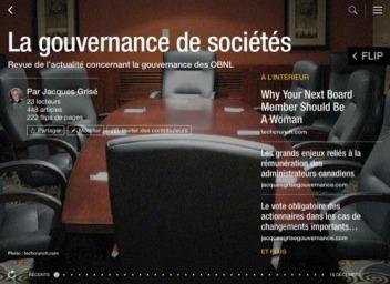 Photo du magazine Gouvernance des sociétés